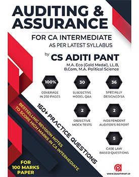CA Inter Auditing & Assurance Score Booster Revision Notes by CS Aditi Pant