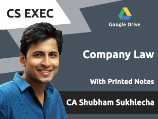 CS Executive Company Law Video Lectures by CA Shubham Sukhlecha (Download)