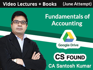 CS Foundation Fundamentals of Accounting Video Lectures By CA Santosh Kumar June Attempt (Download + Books)