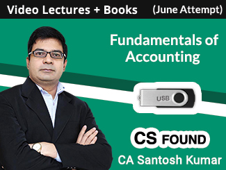 CS Foundation Fundamentals of Accounting Video Lectures by CA Santosh Kumar June Attempt (USB + Books)