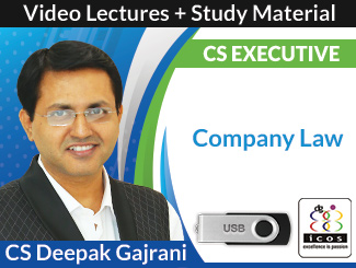 CS Executive Company Law Video Lectures by CS Deepak Gajrani (USB)