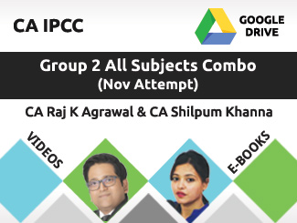 CA IPCC Group 2 All Subjects Combo Video Lectures by CA Raj K Agrawal & CA Shilpum Khanna Nov Attempt (Download + E-Books)