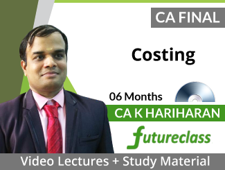 CA Final Costing Video Lectures by CA K Hariharan (DVD -06 Months)