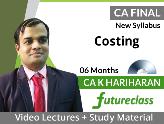 CA Final New Syllabus Costing Video Lectures by CA K Hariharan (DVD -06 Months)