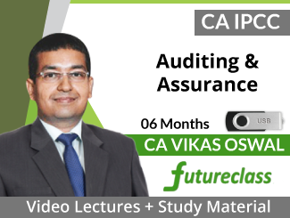 CA IPCC Auditing & Assurance Video Lectures by CA Vikas Oswal (USB - 06 Months)