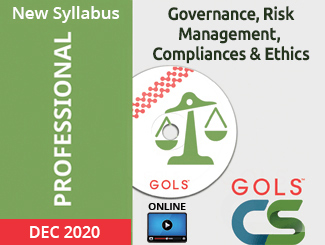 CS Professional New Syllabus Governance, Risk Management, Compliances & Ethics Video Lectures (Online,  Dec 2020)