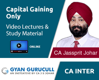 CA Inter Capital Gaining Only Video Lectures by CA Jassprit S Johar (Online)