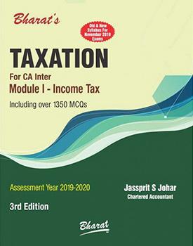 CA Inter Taxation (Module 1) Income Tax Book by CA Jassprit S Johar