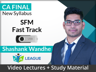 CA Final New Syllabus SFM Fast Track Video Lectures by Shashank Wandhe (USB)