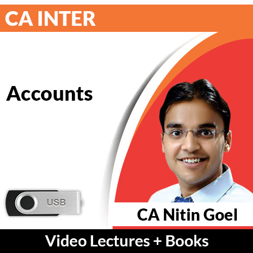 CA Inter Accounts Video Lectures by CA Nitin Goel (USB)