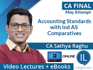 CA Final Accounting Standards with Ind AS Comparatives Video Lectures by CA Sathya Raghu May Attempt (Online)
