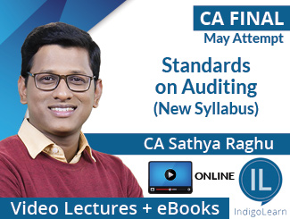 CA Final New Syllabus Standards on Auditing Video Lectures by CA Sathya Raghu May Attempt (Online)