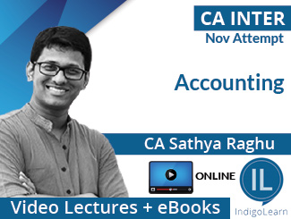 CA Inter Accounting Video Lectures by CA Sathya Raghu Nov Attempt (Online)