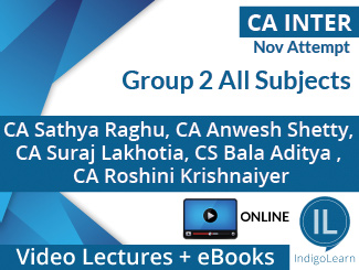 CA Inter Group 2 All Subjects Video Lectures Nov Attempt (Online)