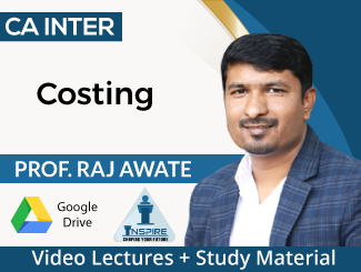 CA Inter Costing Video Lectures by Prof Raj Awate (Download)