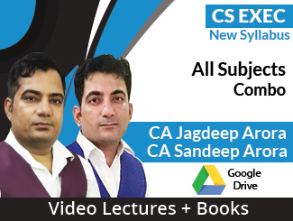 CS Executive New Syllabus All Subjects Combo Video Lectures by CA Jagdeep Arora, CA Sandeep Arora ( Download + Books)