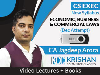 CS Executive New Syllabus Economic, Business & Commercial Laws Video Lectures by CA Jagdeep Arora Dec Attempt (USB + Books)