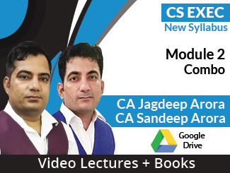 CS Executive New Syllabus Module 2 Combo Video Lectures by CA Jagdeep Arora, CA Sandeep Arora ( Download + Books)