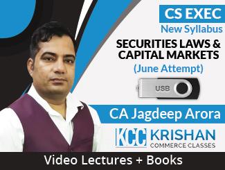 CS Executive New Syllabus Securities Laws & Capital Markets Video Lectures by CA Jagdeep Arora June Attempt (USB + Books)