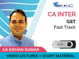CA Inter GST Fast Track Video Lectures by CA Kishan Kumar (USB)