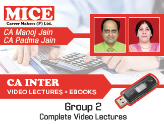 CA Inter Group 2 Complete Video Lectures by CA M K Jain, CA Padma Jain (USB)
