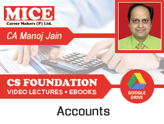 CS Foundation Accounts Video Lectures by CA Manoj Kumar Jain (Download)