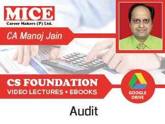 CS Foundation Audit Video Lectures by CA Manoj Kumar Jain (Download)