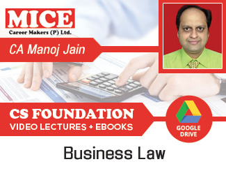 CS Foundation Business Law Video Lectures by CA Manoj Kumar Jain (Download)