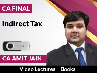 CA Final Indirect Tax Video Lectures by CA Amit Jain (USB + Books)