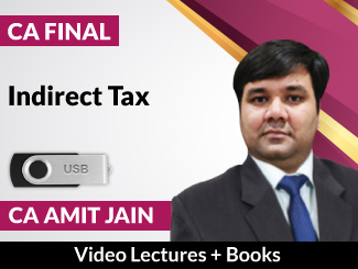 CA Final Indirect Tax Video Lectures by CA Amit Jain (USB)