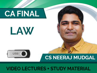 CA Final Law Video Lectures By CS Neeraj Mudgal (USB)