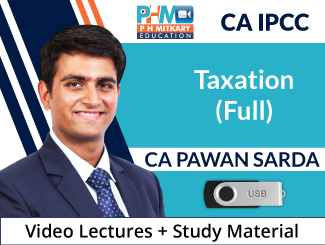 CA IPCC Taxation (Full) Video Lectures by CA Pawan Sarda (USB)