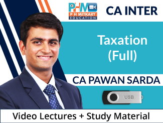 CA Inter Taxation (Full) Video Lectures by CA Pawan Sarda (USB)
