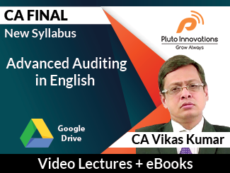 CA Final New Syllabus Advanced Auditing Video Lectures in English by CA Vikas Kumar (Download)