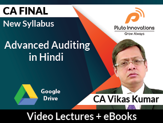 CA Final New Syllabus Advanced Auditing Video Lectures in Hindi by CA Vikas Kumar (Download)