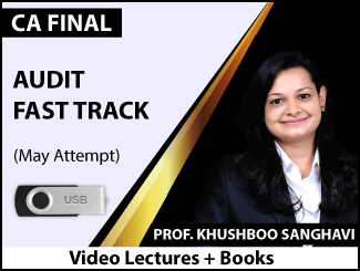CA Final Audit Fast Track Video Lectures by CA Khushboo Sanghavi May Attempt (USB + Books)