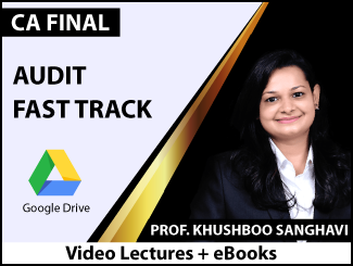 CA Final Audit Fast Track Video Lectures by Prof. Khushboo Sanghavi (Download + eBooks)