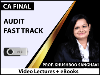 CA Final Audit Fast Track Video Lectures by Prof. Khushboo Sanghavi (USB + eBooks)