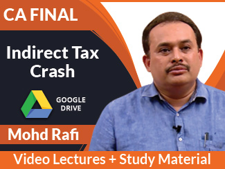 CA Final IDT Crash Video Lectures by Mohd Rafi (Download)