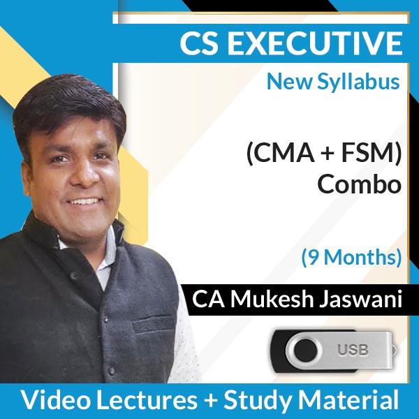 CS Executive New Syllabus (CMA + FSM) Combo Video Lectures by CA Mukesh Jaswani (USB, 9 Months)