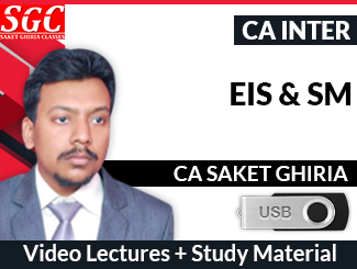 CA Inter Enterprise Information Systems & Strategic Management Video Lectures by CA Saket Ghiria (USB)