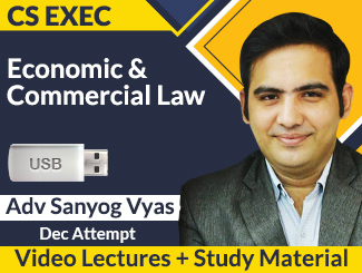 CS Executive Economic & Commercial Law Video Lectures by Sanyog Vyas Dec Attempt (USB + Book)