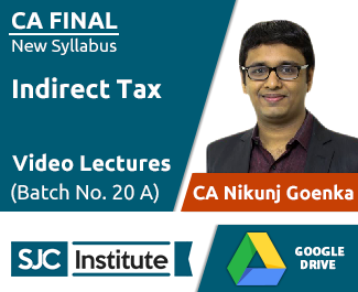 CA Final New Syllabus IDT Video Lectures by CA Nikunj Goenka (Download, Batch No. 20 A)