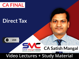 CA Final Direct Tax Video Lectures by CA Satish Mangal (USB)