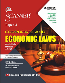 Scanner CA Final (New Syllabus) Group-1 (Paper-4) Corporate and Economic Laws Regular Edition