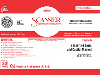 Scanner CS Executive Module-2 (2017 Syllabus) Paper-6 Securities Laws and Capital Market Green Edition