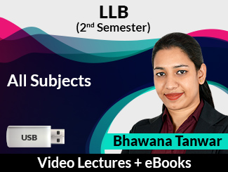 LLB (2nd Semester) All subjects Video Lectures by Bhawana Tanwar (USB, eBooks)