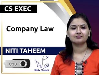CS Executive Company Law Video Lectures by Niti Taheem (USB)