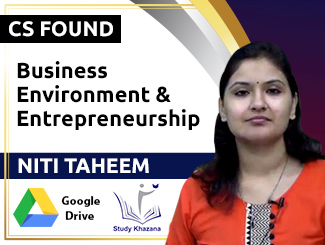 CS Foundation Business Environment & Entrepreneurship Video Lectures by Niti Taheem (Download)