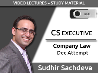 CS EXECUTIVE Company Law Video Lectures by Sudhir Sachdeva Dec Attempt (USB)